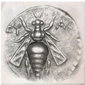 Old Coin - Pencil Sketch
